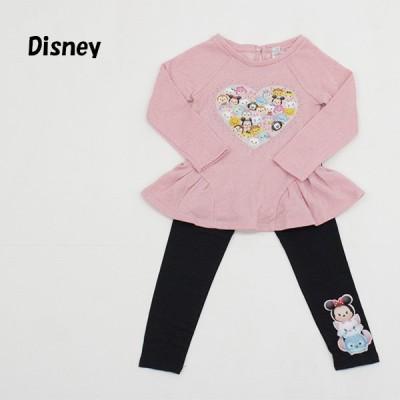 送料無料 アウトレット Disney ディズニー ベビー キッズ 上下セット DISNEY LEGGING 2PC Set 春 秋 #590458 P130