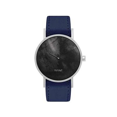 South Lane Stainless Steel Swiss-Quartz Watch with Leather Calfskin Strap, Black, 20 (Model: swiss-bl-39) 並行輸入品