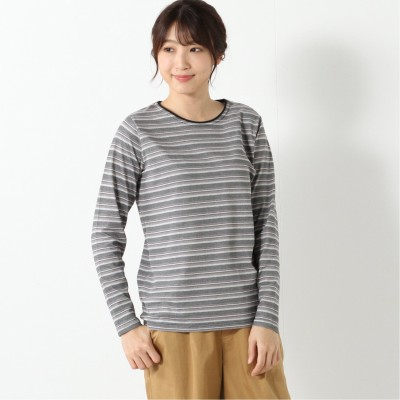 涼しく快適ドライカノコ長袖Tシャツ【無地・ボーダー】