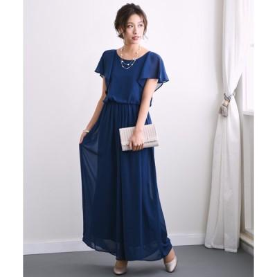 ドレス ワイドパンツの オールインワン ドレス