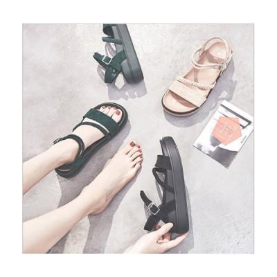 サンダル レディース ウェッジソール 夏 厚底 歩きやすい 疲れにくい カジュアル おしゃれ 美脚 3色 ローマ靴