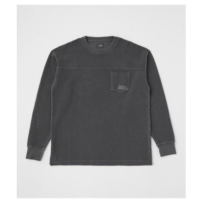 (RODEO CROWNS WIDE BOWL/ロデオクラウンズワイドボウル)ピグメントポケット L/S Tシャツ/メンズ BLK
