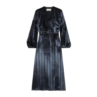 MICHELLE MASON 7分丈ワンピース・ドレス ダークブルー 2 レーヨン 82% / シルク 18% 7分丈ワンピース・ドレス