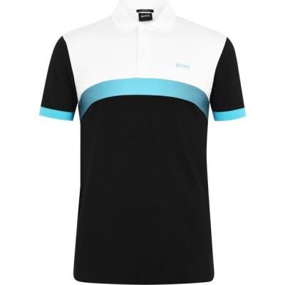 ヒューゴ ボス Boss メンズ ポロシャツ トップス Paule 3 Block Polo Shirt Black