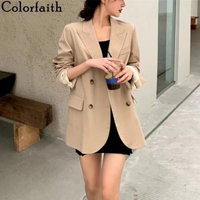 海外輸入アパレル Colorfaith New 2020 Autumn Winter Women Blazers Oversize Casual Bu
