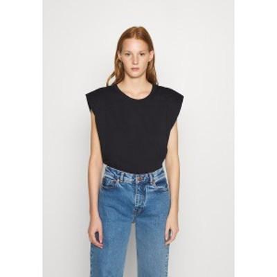 エム バイ エム レディース Tシャツ トップス MONTERIO - Basic T-shirt - black black