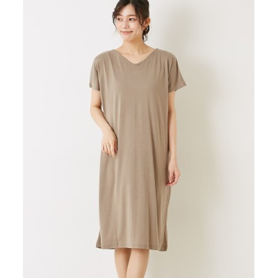 【earth music&ecology】・前後2wayねじりワンピース (ワンピース)Dress