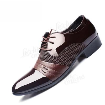 メンズドレスシューズプラス メンズビジネスフラットシューズブラックブラウン通気性の低いトップメンズフォーマルオフィスの靴