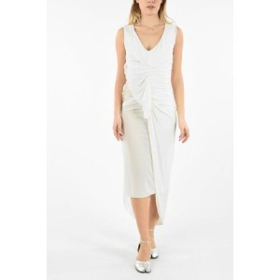 MAISON MARGIELA/メゾン マルジェラ White レディース MM0 DRPED ASYMMETRICAL BODYCON DRESS dk