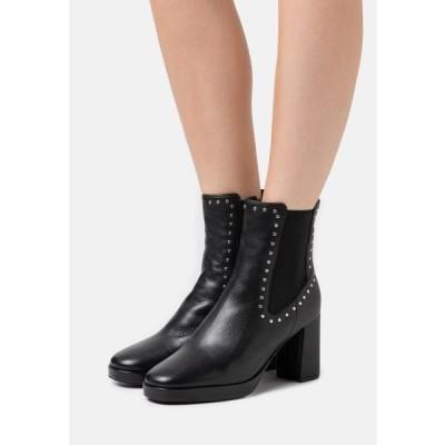 ザイン レディース 靴 シューズ Platform ankle boots - black