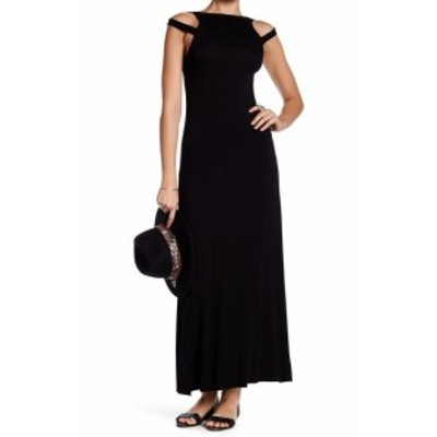 Maxi  ファッション ドレス Clayton NEW Black Womens Size Medium M Cut Out Shoulder Maxi Dress