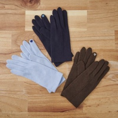 バッグ 靴 アクセサリー 帽子 サングラス 手袋 ベルト アームカバー [婦人]日本製タッチパネルカシミア手袋 GF0806