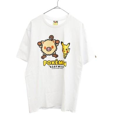 A BATHING APE (アベイシングエイプ) X POKEMON MANKEY & PIKACHU TEE
