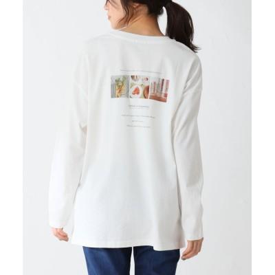 (Honeys/ハニーズ)フォトプリントTシャツ/レディース オフホワイト