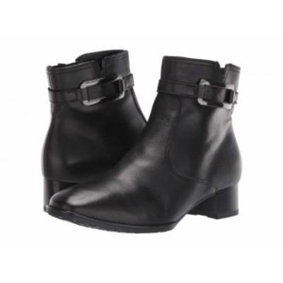 ara アラ レディース 女性用 シューズ 靴 ブーツ アンクル ショートブーツ Georgia Black Nappalux【送料無料】