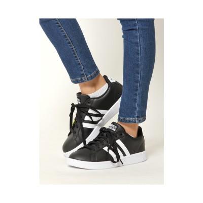Sneakers Selection CLOUDFOAMVALSTRIPES/アディダスクラウドフォームストライプス(ブラック/ホワイト) ブラック/ホワイト