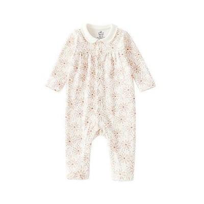 Baby nest ベビー服 女の子 カバーオール 長袖 ロンパース 赤ちゃん服 新生児服 秋冬服 おくるみ かわいい パジャマ 花 66c