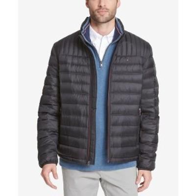 トミー ヒルフィガー メンズ ジャケット&ブルゾン アウター Men's Down Quilted Packable Puffer Jacket Black