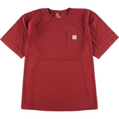 カーハート Carhartt ORIGINAL FIT 半袖 ワンポイントロゴポケットTシャツ メンズXXL /eaa153873