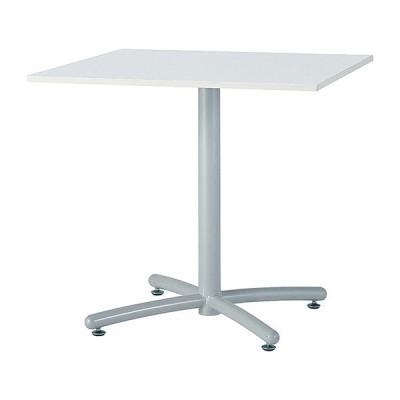 ミーティングテーブル 120×75cm 正方形 シルバー脚 会議用テーブル 会議テーブル 会議机 会議デスク テーブル 打ち合わせ 商談 代引不可