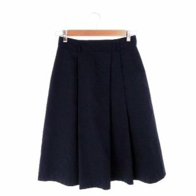 【中古】アナイ ANAYI スカート フレア ミモレ ロング 38 紺 ネイビー /AH6 ☆ レディース