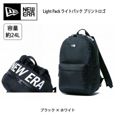 NEWERA ニューエラ Light Pack ライトパック プリントロゴ ブラック × ホワイト 11556638  バックパック リュック リュックサック アウトドア