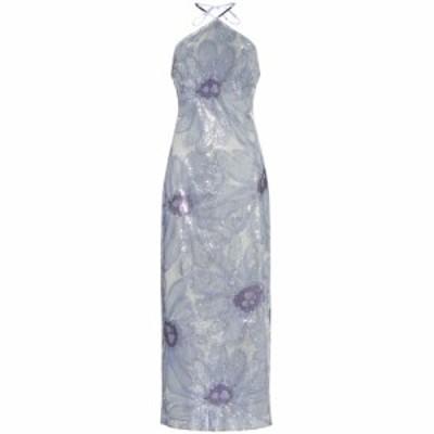 ジャックムス Jacquemus レディース ワンピース ワンピース・ドレス La Robe Lavandou sequined dress Sequin Blue Flowers