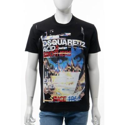ディースクエアード Tシャツ 半袖 丸首 クルーネック メンズ S74GD0547S22427 ブラック DSQUARED2