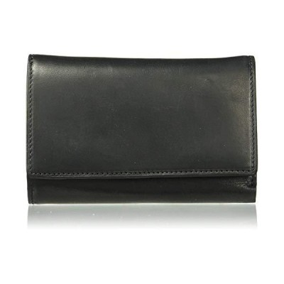 Men's Italian Cow Leather Trifold Euro Clutch Wallet with ID Window and Coin Pouch【並行輸入品】