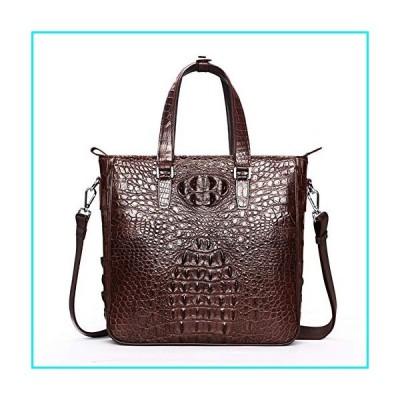 Mens Genuine Crocodile Skin Handbag Fashion Handmade Tote Shoulder Bag【並行輸入品】