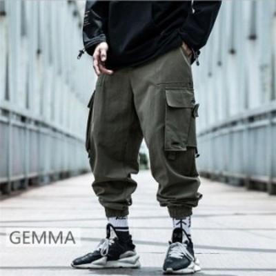 カーゴパンツ サルエルパンツ メンズパンツ ロングパンツ ズボン カジュアルパンツ ゆったり 体型カバー メンズ ボトムス 新作