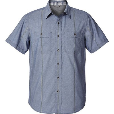 ロイヤルロビンズ シャツ メンズ トップス Royal Robbins Men's Vista Dry SS Shirt Deep Blue
