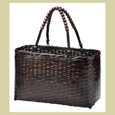 『竹』かごバッグ「33×17×21cm」 91-213