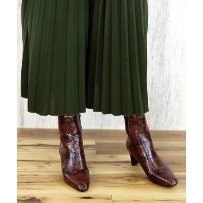 ブーツ スクエアトゥミドルブーツ [ minia ]  【 雑誌掲載 / SPRiNG 】