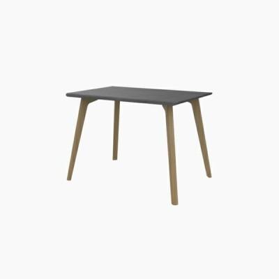 送料無料 ダイニングテーブル (W1000 天板:ミッドグレー 脚:ピーチ) - CROSS
