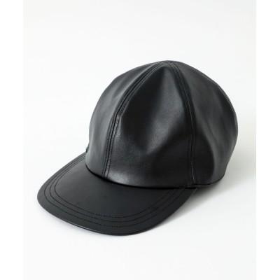 STUDIOUS MENS / 【LiNoH】SYNTHETIC LEATHER SIX PANEL CAP MEN 帽子 > キャップ