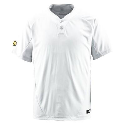 【送料290円】デサント 2ボタンTシャツ Sホワイト DESCENTE DB201 SWHT