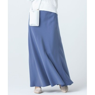 S size ONWARD(小さいサイズ)/エスサイズオンワード 【中村アンさん着用】テンセルサテンギャバ フレア スカート(番号2D26) ブルー系 30