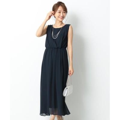 【エニィスィス】 アシメタックミディー ドレス レディース ネイビー系 2 any SiS