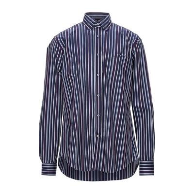 PAUL & SHARK ストライプ柄シャツ ファッション  メンズファッション  トップス  シャツ、カジュアルシャツ  長袖 ブルー