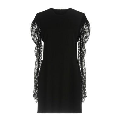 SAINT LAURENT ミニワンピース&ドレス ブラック 40 53% アセテート 47% レーヨン ミニワンピース&ドレス