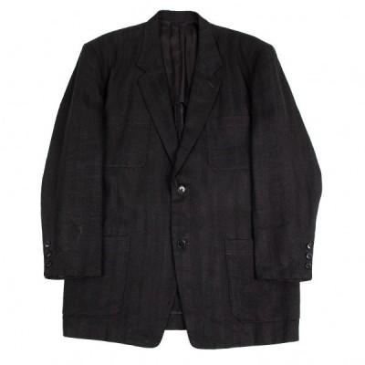 ワイズフォーメンY's for men リネンシャドーストライプパッチポケットジャケット 黒M 【メンズ】