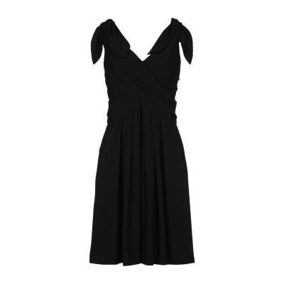 モスキーノ MOSCHINO ミニワンピース&ドレス ブラック 40 トリアセテート 64% / ポリエステル 36% ミニワンピース&ドレス