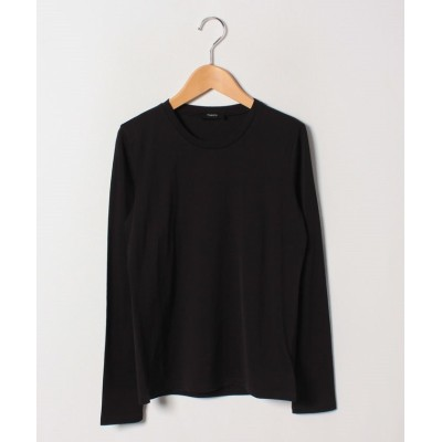 【セオリー】 Tシャツ APEX TEE TINY TEE LS レディース ブラック S Theory