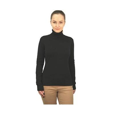 Ethere Women's Sweater Pullover Turtleneck, Black Small並行輸入品 送料無料