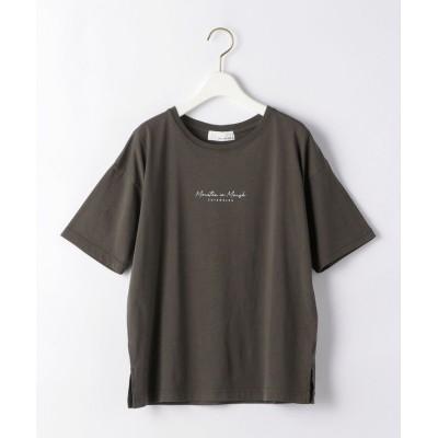 (green label relaxing/グリーンレーベルリラクシング)SC テンジク プリント Tシャツ/レディース DKBROWN