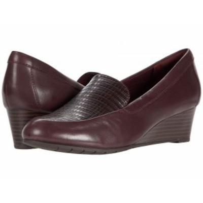 Clarks クラークス レディース 女性用 シューズ 靴 ヒール Mallory Pearl Burgundy Leather/Synthetic Combination【送料無料】