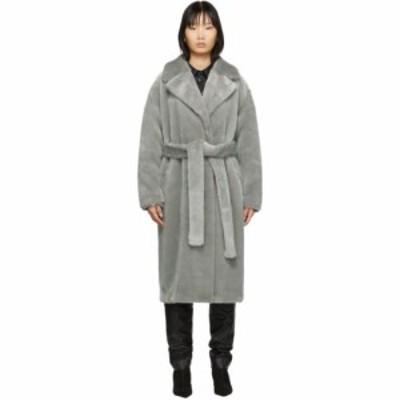 ティビ Tibi レディース コート アウター Grey Faux-Fur Oversized Luxe Coat