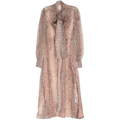 ツインセット シモーナ バルビエリ TWINSET 7分丈ワンピース・ドレス サンド 38 シルク 100% 7分丈ワンピース・ドレス