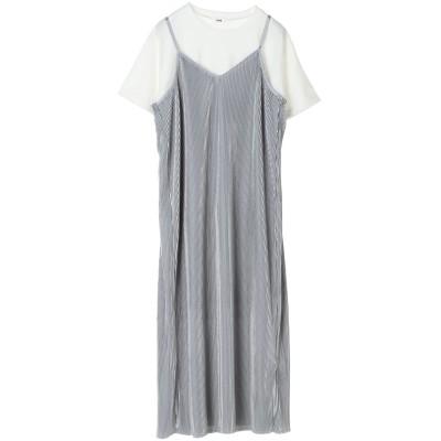 SETプリーツキャミワンピース&半袖Tシャツ